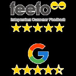Feefo Google reviews